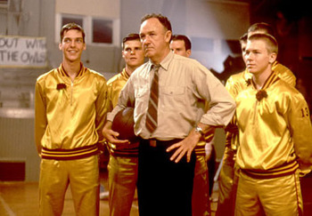 Coach Norman Dale and his squad