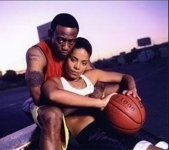 Quincy McCall and Monica Wright from Love and Basketball