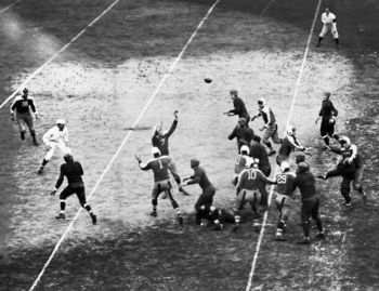 "Giants' Hall of Fame coach Steve Owen lead his team to the 1934 NFL title in the ""Sneakers Game."" He also won more games than any coach in Giants history."