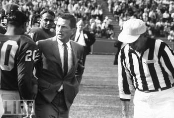 Allie Sherman's Giants career got off to a hot start, with three straight visits to the NFL Title game, but after 1963 Sherman never had a winning season again despite coaching five more years.