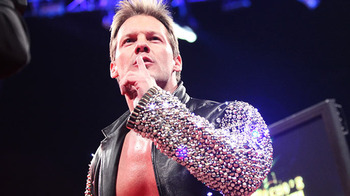 Chris Jericho speaks on Raw.