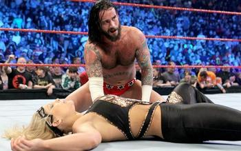CM Punk takes out ex-girlfriend Beth Phoenix in the 2010 Royal Rumble.