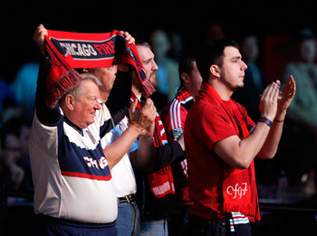Chicago Fire fans make their presence felt at the 2012 MLS SuperDraft.