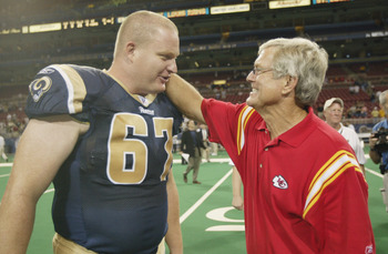 Andy McCollum with former Rams Head Coach Dick Vermeil
