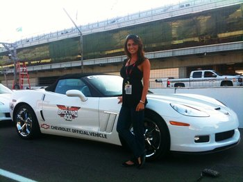Jenny did a lap in the Indy pace car last July