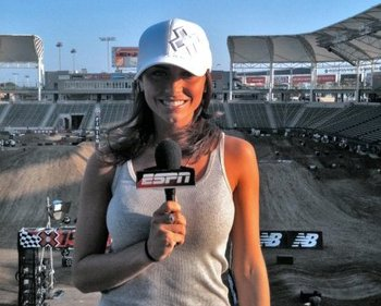 A casual Jenny reporting from the X Games site.