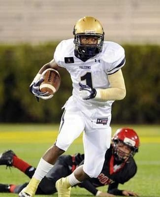 Stefon Diggs of Our Lady of Good Counsel HS in Maryland