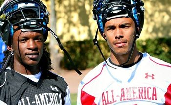 2012 Under Armour All American Game participants Lucas Thompson and Trey Griffey