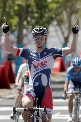 Andre Greipel winning the final stage of the Tour Down Under