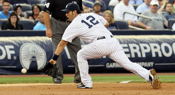 Eric Chavez providing solid defense for the Yanks.