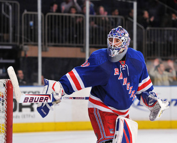 Henrik Lundqvist is credited with 5 shutout wins so far this season.