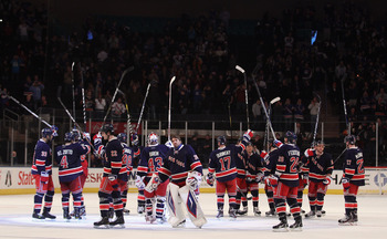 The New York Rangers have won 31 games in 48 games played this season.