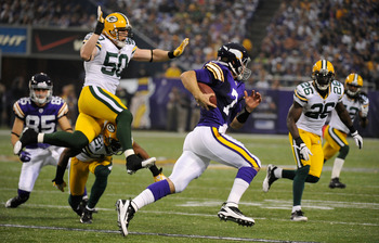 The Packers would like to see more of this from A.J. Hawk.