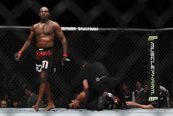 Jon Jones (left); photo cred: bloodyelbow.com