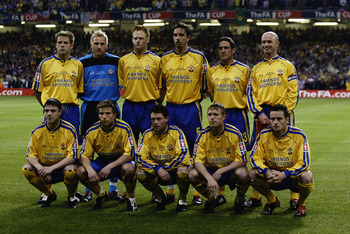 Southampton team photo before the 2003 FA Cup Final