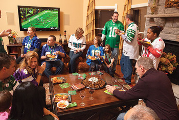 The average Super Bowl watcher will consume 1200 calories