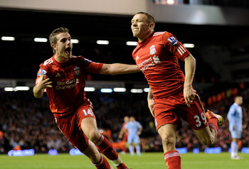 Bellamy with Jordan Henderson