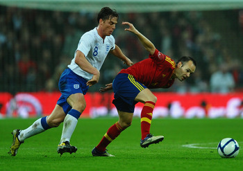Though only a friendly, Scott Parker was mightily impressive in stifling Spain's midfield creativity in last November's 1-0 England win.