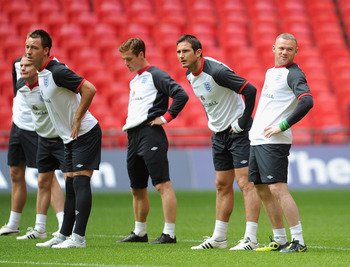 Parker does not carry the baggage of his team-mates pictured here, nor others like Steven Gerrard and Rio Ferdinand.