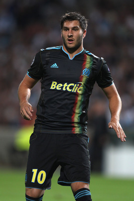 MARSEILLE, FRANCE - SEPTEMBER 15:  Andre-Pierre Gignac of Marseille during the UEFA Champions League Group F match between Olympique Marseille and Spartak Moscow at the Stade Velodrome on September 15, 2010 in Marseille, France.  (Photo by Michael Steele/
