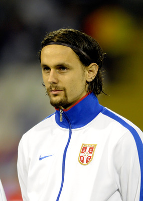 BELGRADE, SERBIA - OCTOBER 07:  Neven Subotic of Serbia during the EURO 2012 Qualifier match between Serbia and Italy at Stadion Crvena Zvezda on October 7, 2011 in Belgrade, Serbia.  (Photo by Claudio Villa/Getty Images)