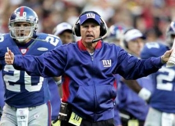 Coughlin reacting to a call.