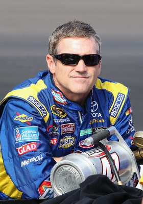 Bobby Labonte, driver of the #47 JTG/Daugherty Racing Toyota