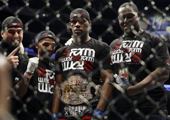 Jon Jones (center); photo cred: lasvegassun.com