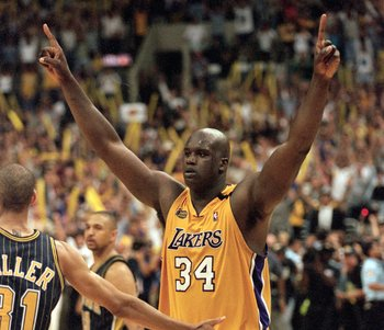 Shaq was totally dominant in leading the Lakers to three titles at the turn of the century.