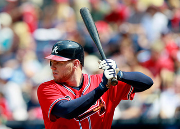 Freddie Freeman could hit 25 homers this year after hitting 21 last year.