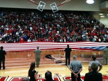 A packed Beeghly Center before the Youngstown State - Cleveland State in late January.