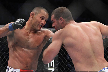 Dan Henderson (left) against Mauricio Rua/ photo cred: Lauron Zaugg for MMAWeekly.com