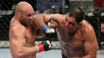 Randy Couture (left) with Rodrigo Nogueira/ photo cred: Ken Pishna for MMAWeekly.com