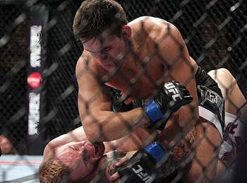 Demian Maia atop Jason MacDonald/ photo cred: Ken Pishna for MMAWeekly.com