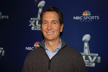 Collinsworth is full of failed jokes, terrible analogies, and baseless judgement.