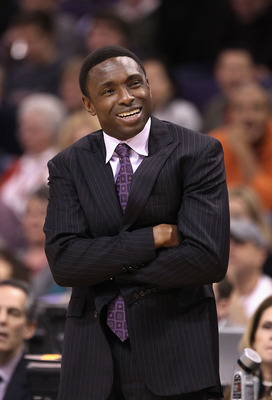 PHOENIX, AZ - JANUARY 13:  Head coach Avery Johnson of the New Jersey Nets during the NBA game against the Phoenix Suns at US Airways Center on January 13, 2012 in Phoenix, Arizona. The Nets defeated the Suns 110-103.   NOTE TO USER: User expressly acknow