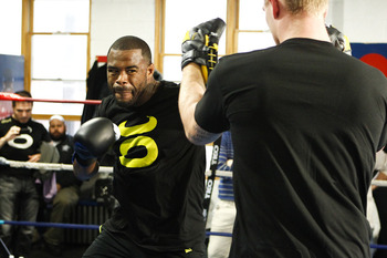 Evans training for his fight with Phil Davis- Esther Lin/MMAFighting