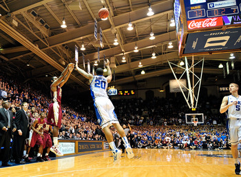 Michael Snaer's last-second shot ended Duke's 45-game home court winning streak.