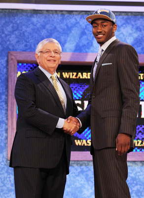 John Wall was the first Kentucky player to drafted first in the NBA draft.