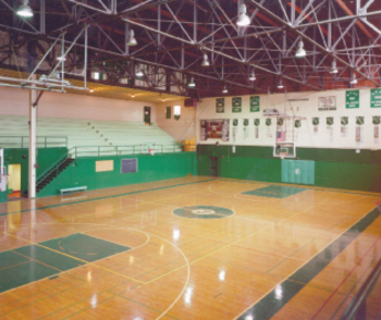 Paly High Gym -- dates back to 1928 (Photo by Coulter Construction)