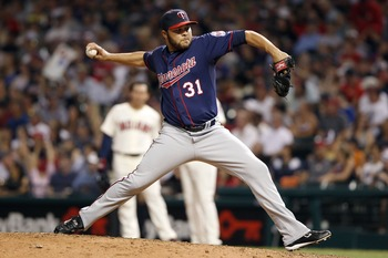 Alex Burnett had a 5.51 ERA in 66 games in relief for the Twins last season.