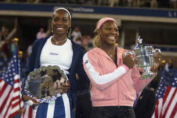 Venus and Serena didn't smile much during their matches together.
