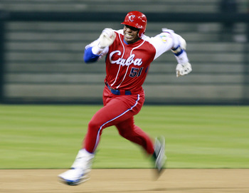Yoenis Cespedes brings legendary athletic ability to Oakland.