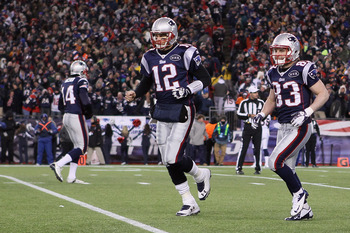 Welker (right) with Brady