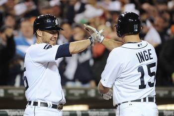 Ryan Raburn and Brandon Inge could be sharing time at second base in 2012