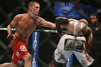 Nate Diaz (left)/ Dave Mandel for Sherdog.com