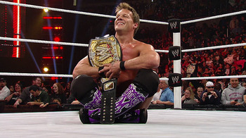 Chris Jericho with the WWE Championship