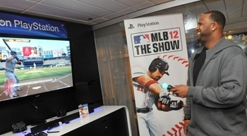 A slimmed-down CC Sabathia had trouble putting the controller down.