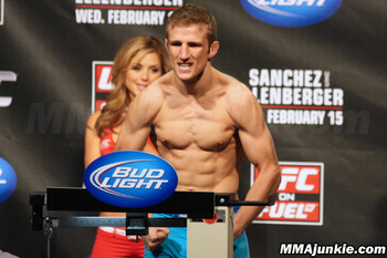 TJ Dillashaw, photo thanks to MMAjunkie.com.