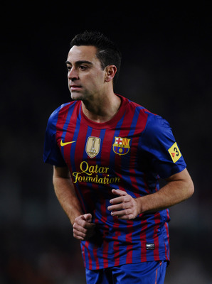 Xavi - 549 matches and counting...